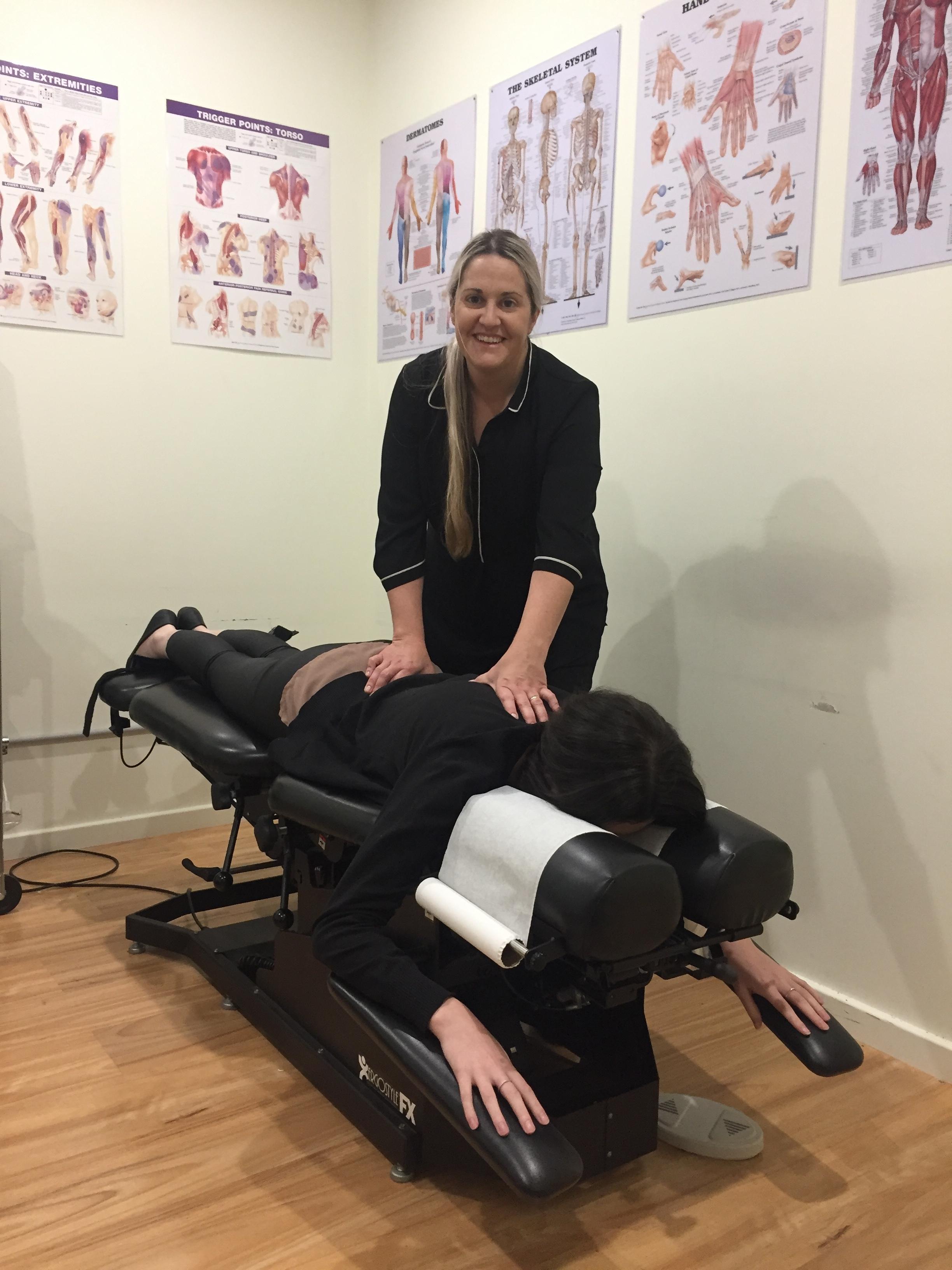 A client receiving a remedial massage near Cockburn