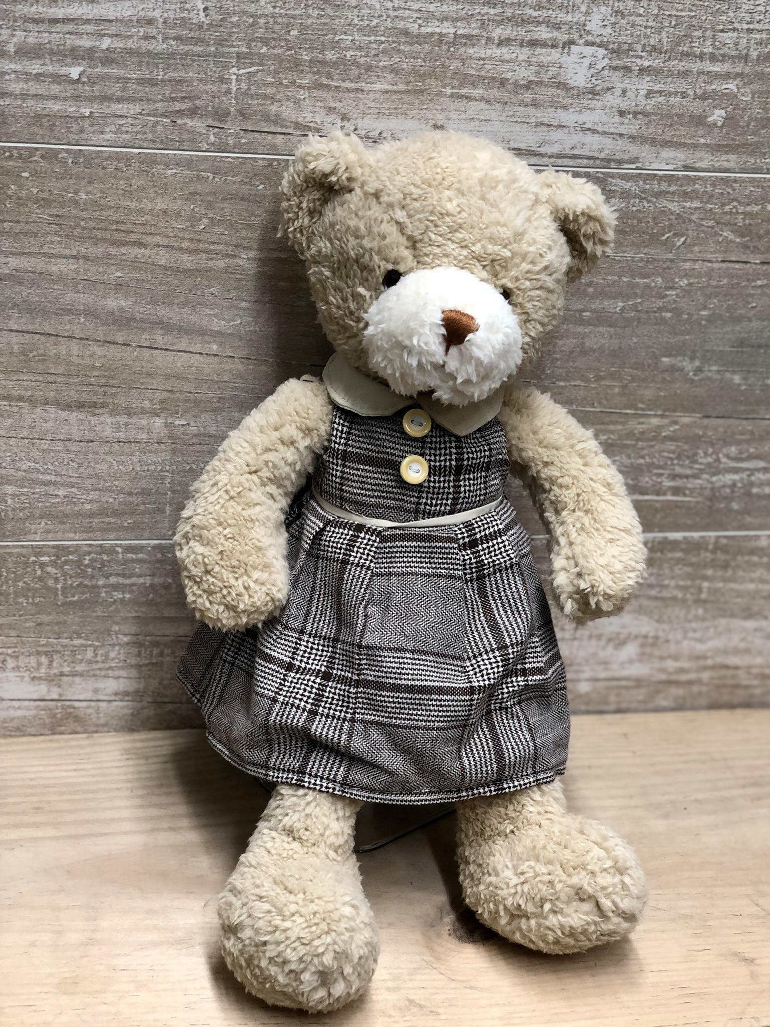 Glen Check Dress Teddy Bear -