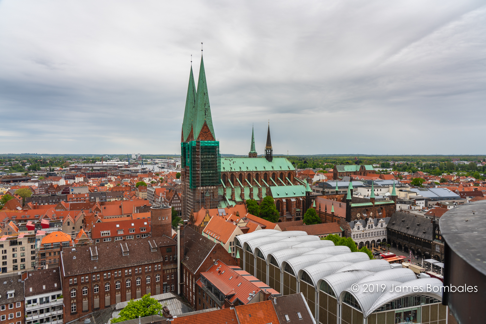 View from Petrikirche towards Marienkirche