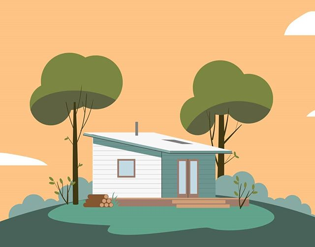 House on a hill....created for the department of bushfire and emergency services for a animated series on bushfire safety....trim those bloody trees people! #illustration #mograph #dfes #illustrator #adobe #house #cartoon #animation