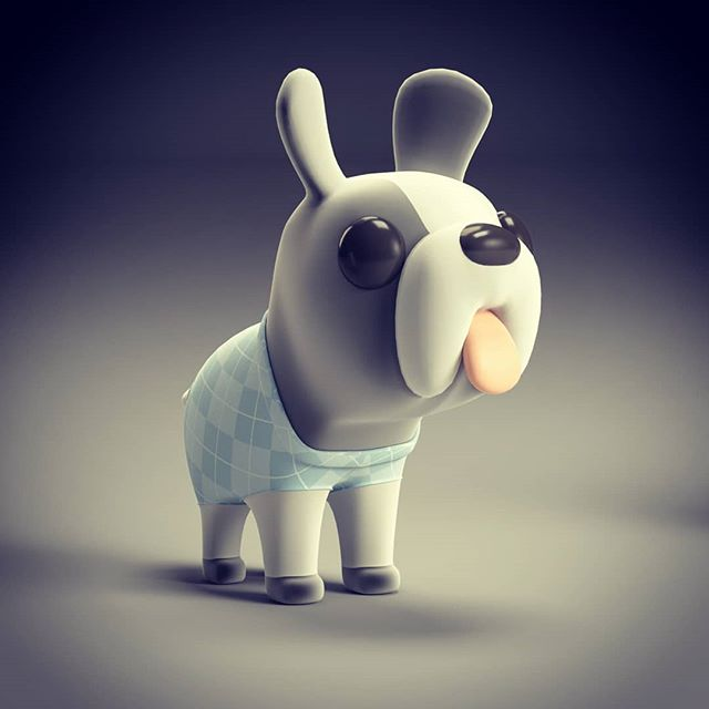 French bulldog model created for Harvey Half Price campaign ...... #frenchbulldog #bulldog #3dsmax #vray  #characterdesign #advertising #doggo