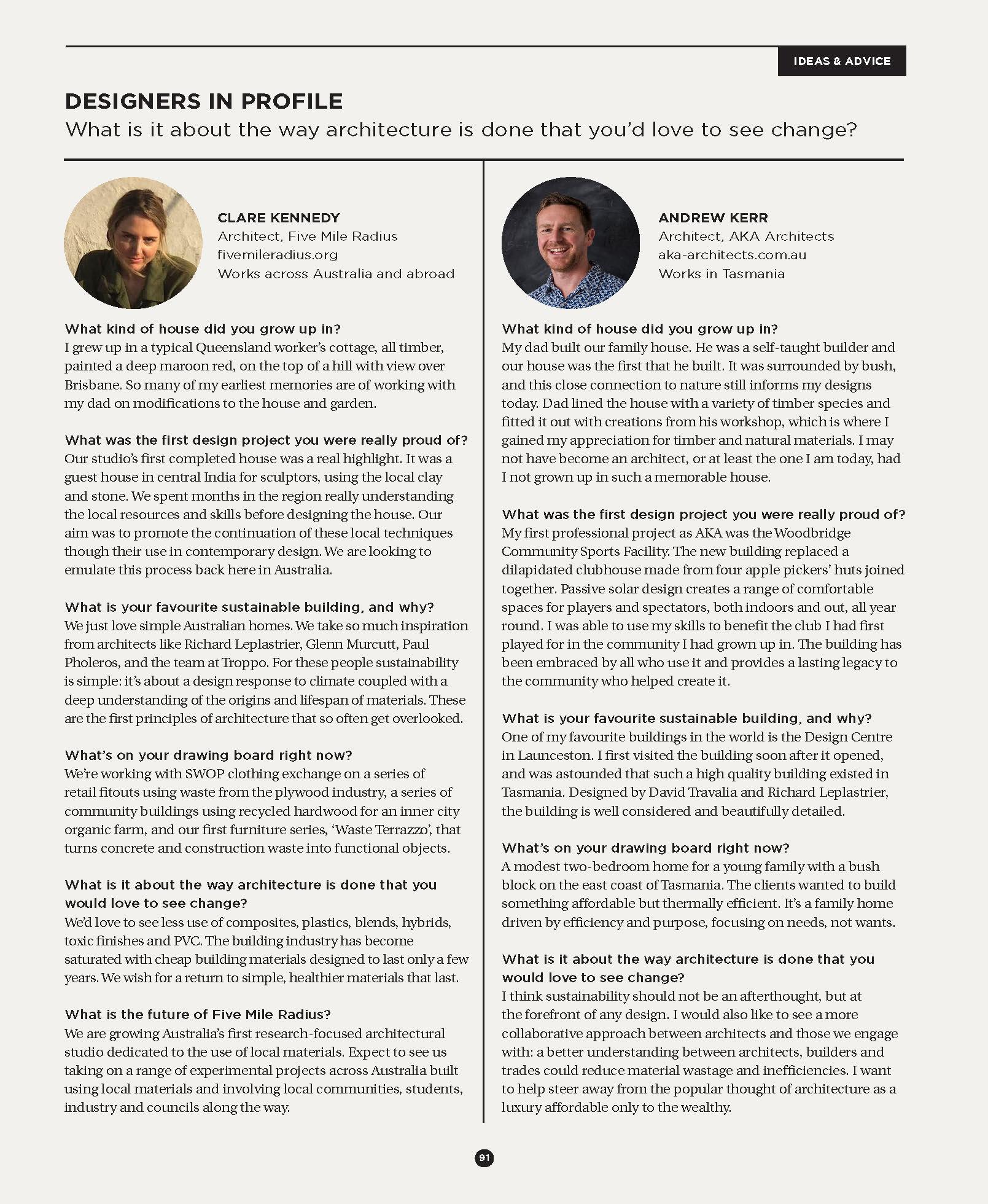 Sanctuary Magazine / Issue 48, 'Designers in Profile', Pg 91