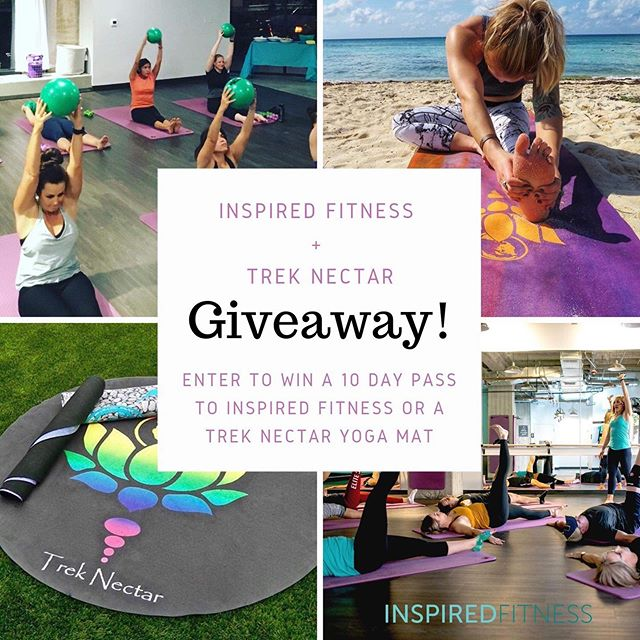 💥GIVEAWAY TIME💥  Ready to reach those fitness goals?! Inspired Fitness and Trek Nectar are teaming up to help you achieve just that with an amazing giveaway! What better way to spread health, fitness, positivity and adventure, than to team up with like minded friends?! Enter to win a 10 day unlimited class pass to Inspired Fitness or a Trek Nectar yoga mat! But before we get to the details of the giveaway, here's a little about ourselves: ✨Inspired Fitness in downtown Tucson strives to provide a positive fitness environment where everyone who walks through the doors immediately feels like part of the Inspired family! Group classes of various intensity are offered to serve every level of fitness throughout your day so you can find the right workout at the right time! ✨Along with being an amazing travel blog that promotes health and fitness, Trek Nectar offers yoga mats that are travel friendly, eco-friendly, AND machine washable! They are designed for the wandering yogis, bodybuilders and health-nuts alike!  Now time for the giveaway! In the spirit of our new friendship, grab a friend to enter! ✨Giveaway Rules: -must be following both @inspiredfitnessaz and @treknectar -must tag at least one friend in the comments AND tell us your favorite workout (more comments with tagged friends = more entries to win!) -must be 18 years of age or older to win  This giveaway is not sponsored, endorsed, administered or associated with Instagram. 💥Winners will be announced on our stories on July 1st!💥 #inspiredfitness #treknectar #downtowntucson #groupfitness #fitness #giveaway #yoga #yogamat #travel #adventure #workout #health #inspired #cycling #beachbodylive #strength #stretch #cardio #travelfit #travelyoga #zerowasteliving #womenownedbusiness #fashionwithintegrity #sustainable #zerowaste #sustainableliving #travelblogger