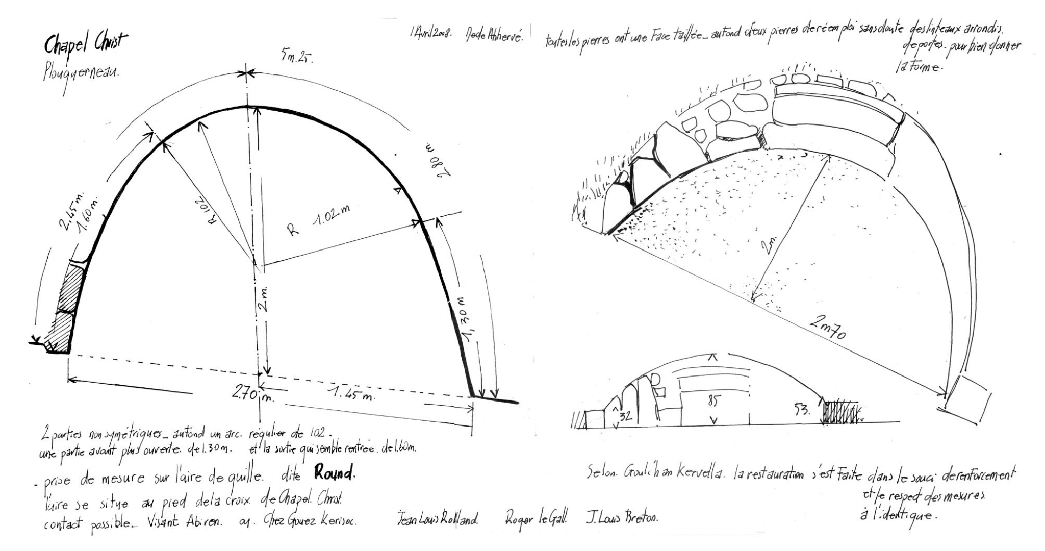 Plan de l'aire de jeu de Chapel Christ à Plouguerneau