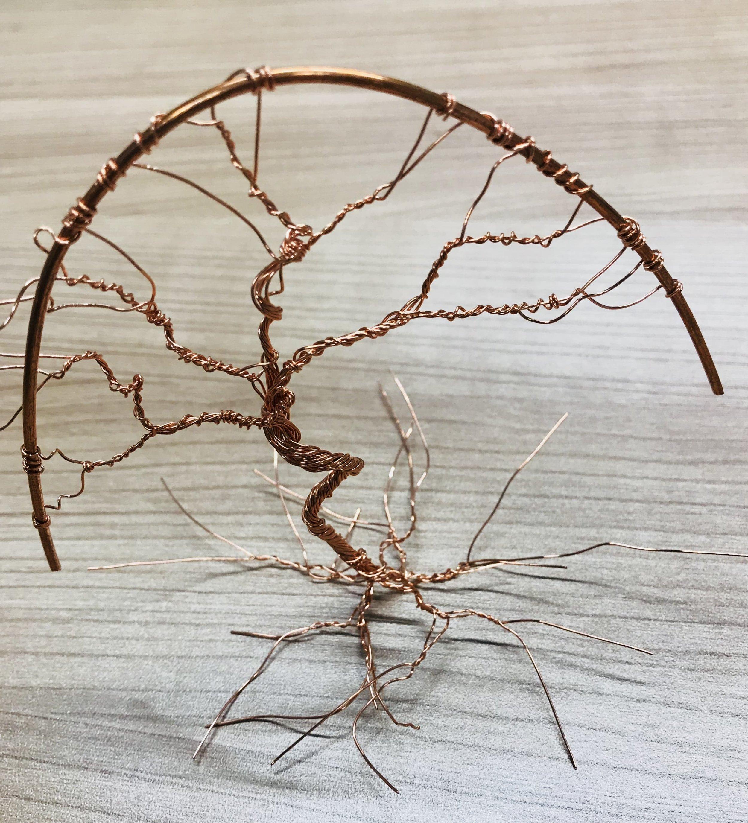 Copper wire Tree artsy Patricia Tiffany Morris IO