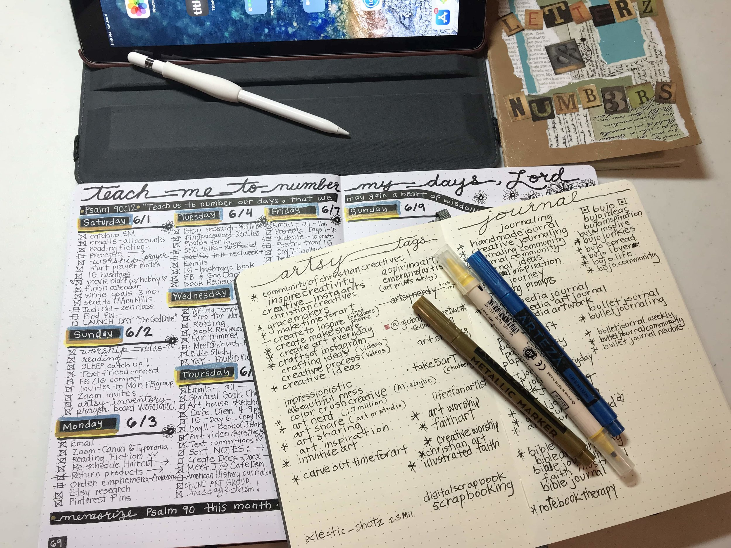 Bullet Journaling - Hashtags, Planning, & Intentionality