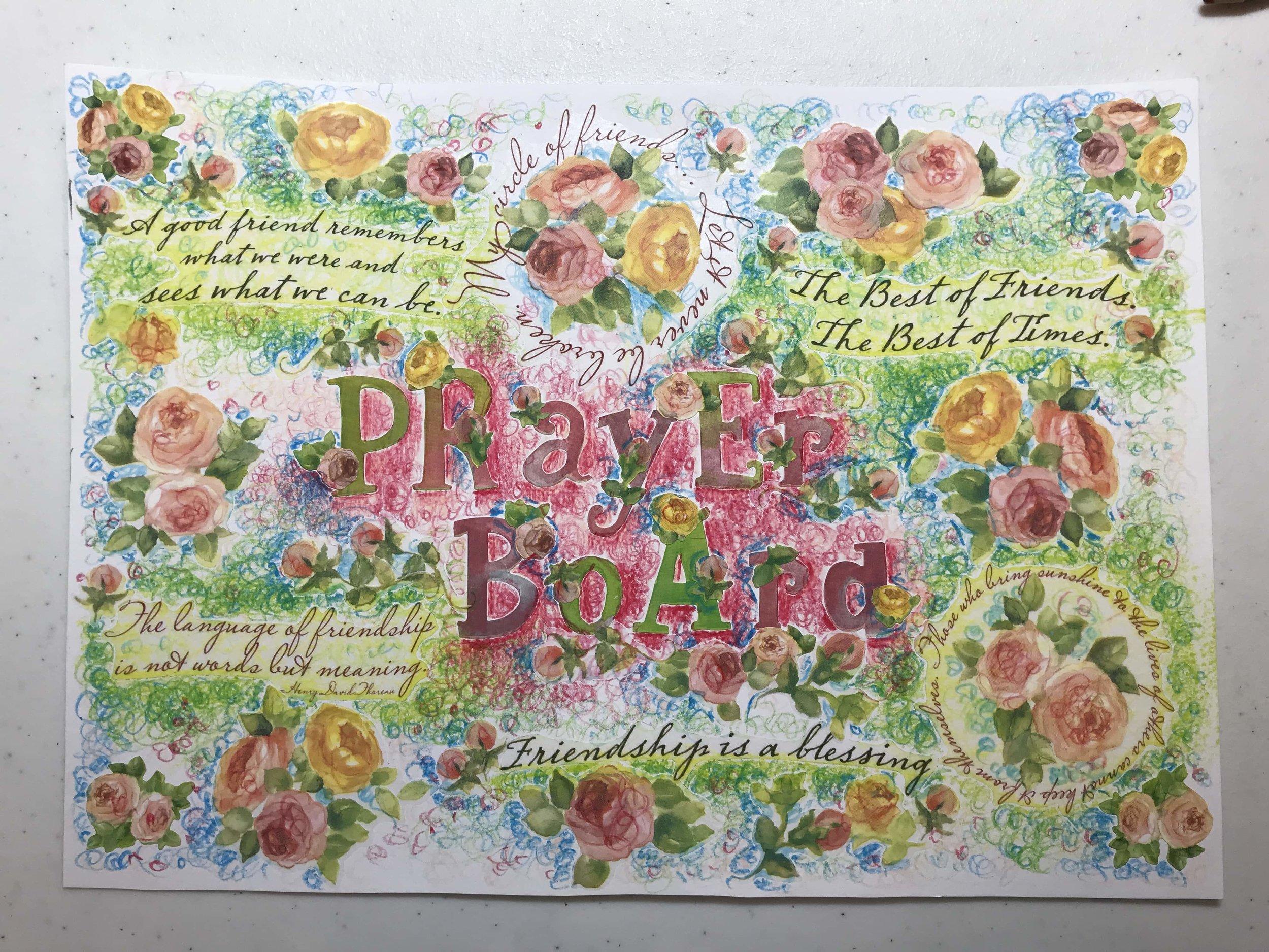 Prayer Board 2 Soulcare artsy Patricia Tiffany Morris.jpg