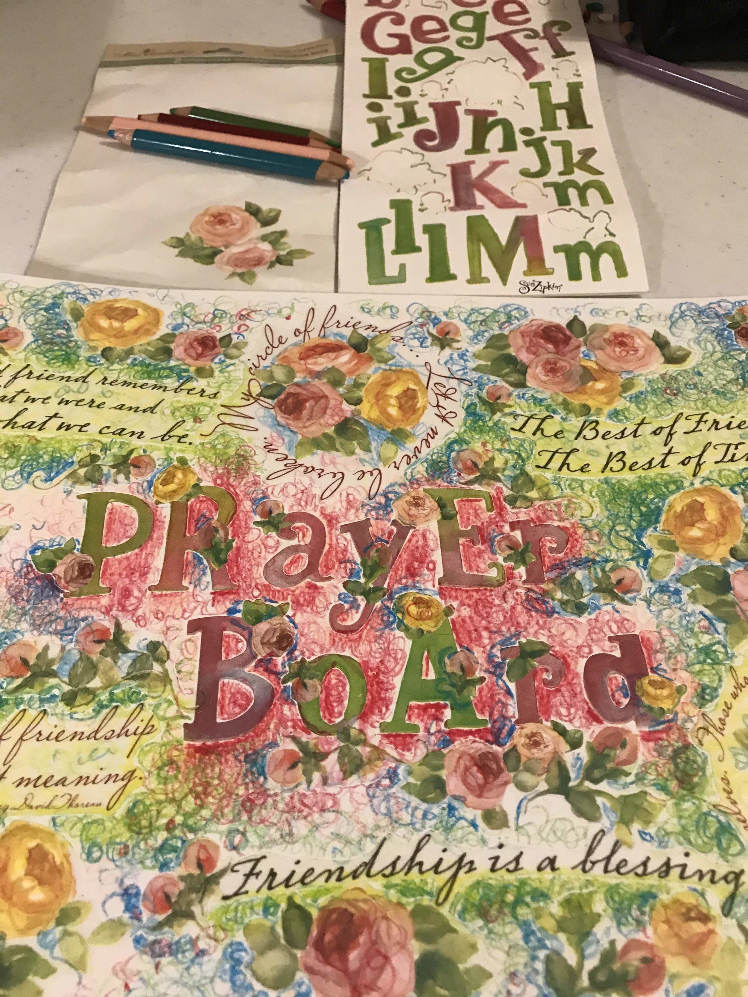 Prayer Board Soulcare 5 artsy Patricia Tiffany Morris.jpg