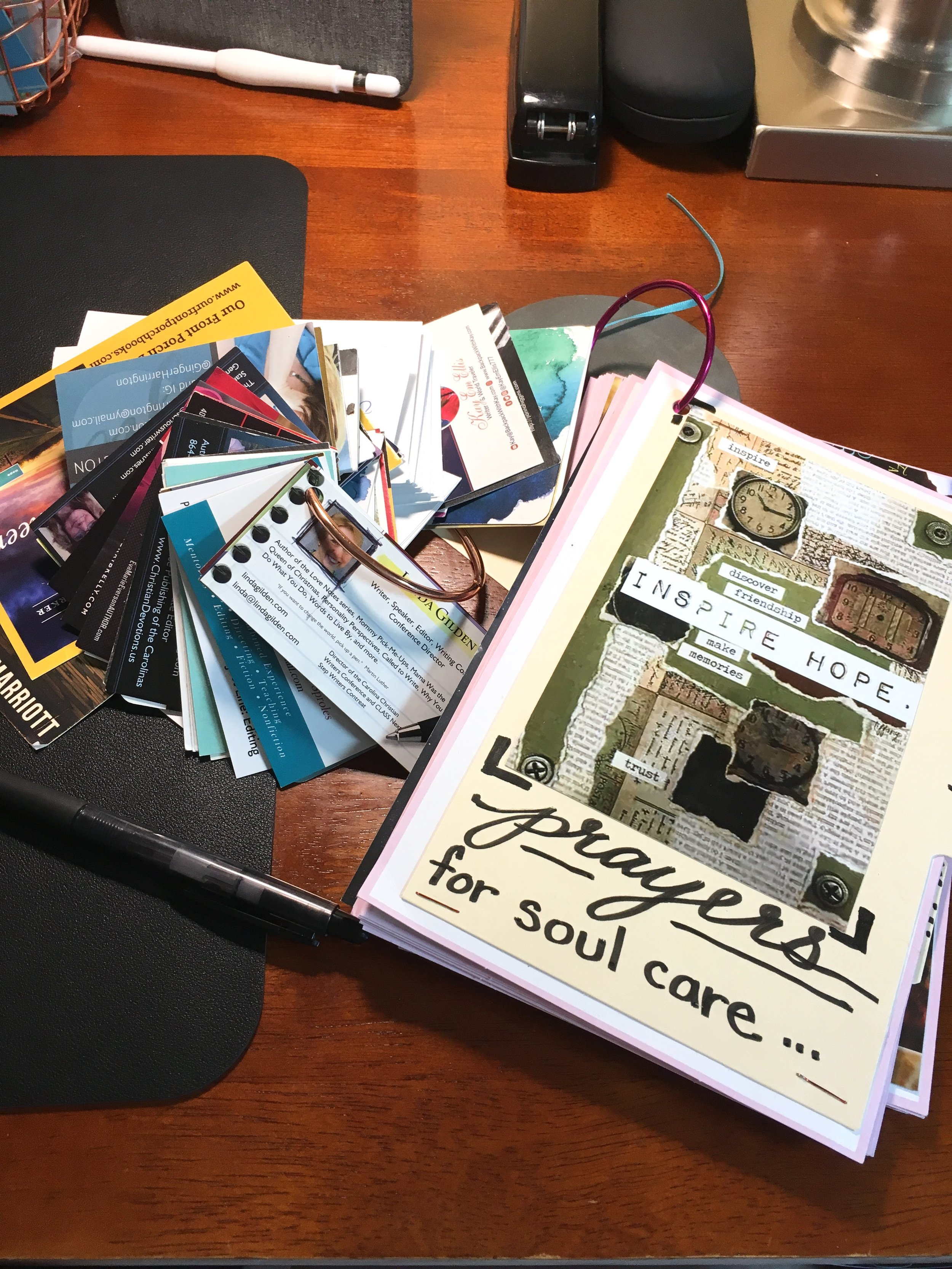 Soul Care Prayer Book and Business cards.jpg