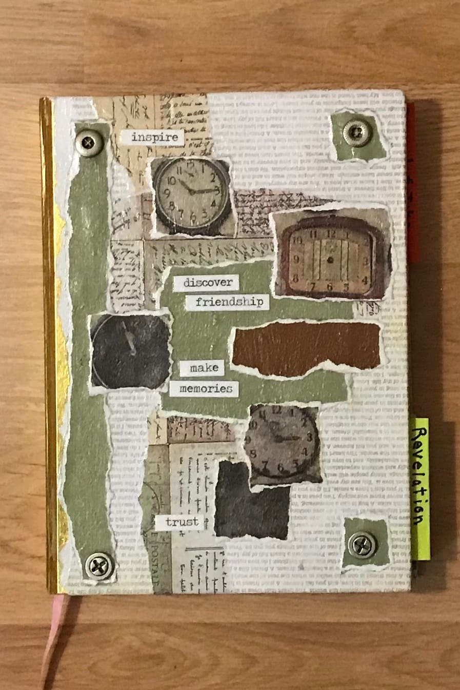 Mixed Media Blank Lined Journal Cover