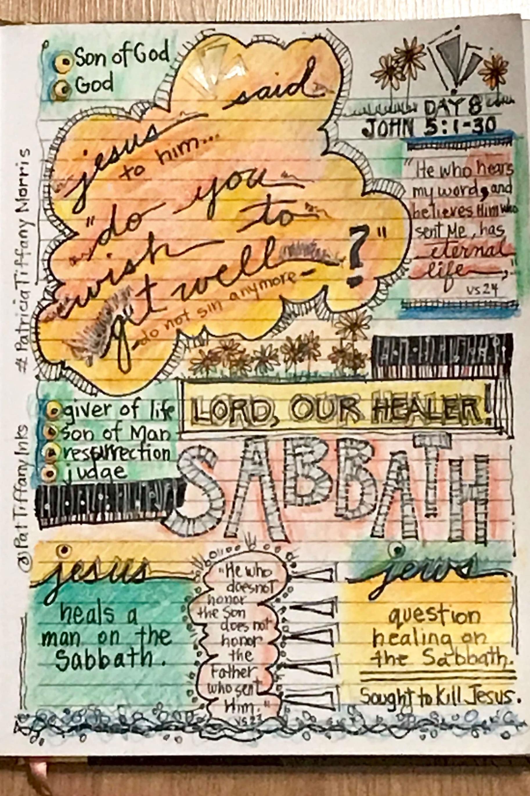 Gospel of John CH 5 1-30 Day 8 Challenge by Patricia Tiffany Morris