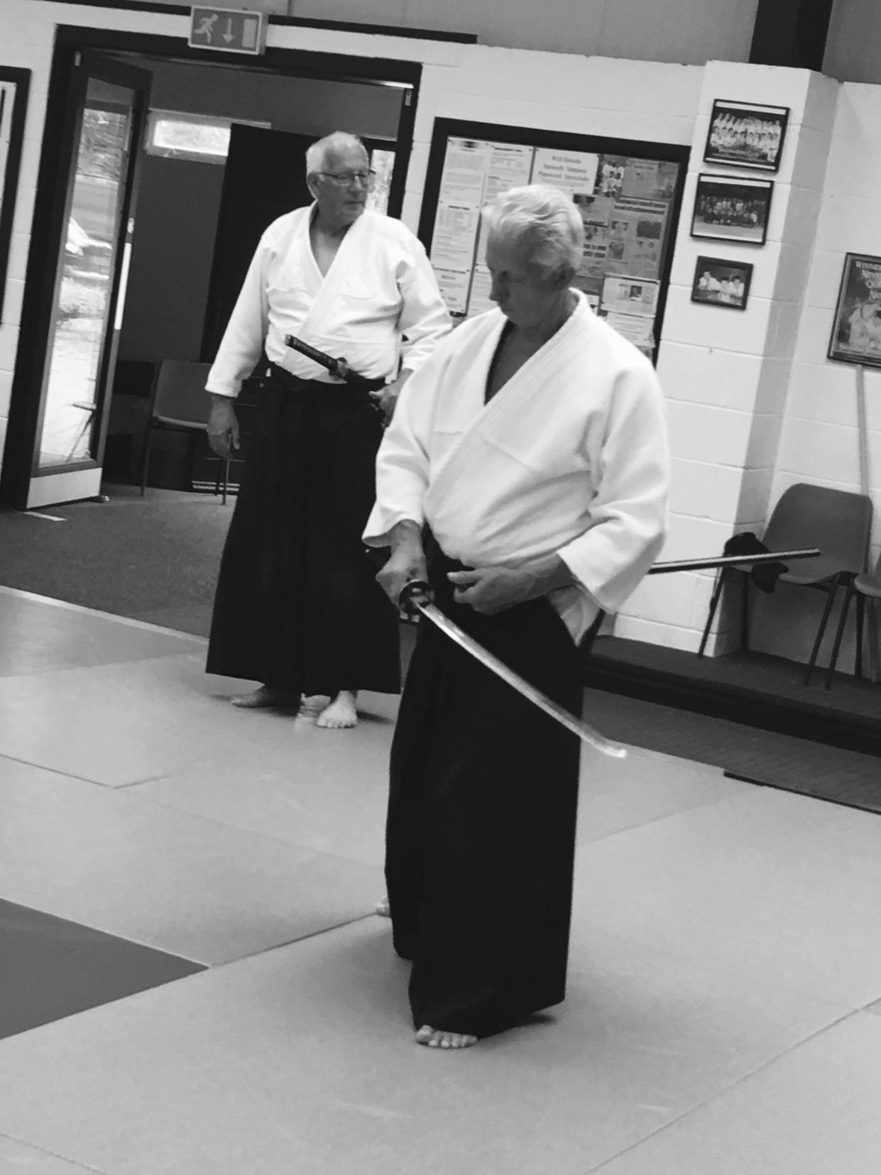 Sensei Paul with a Live blade