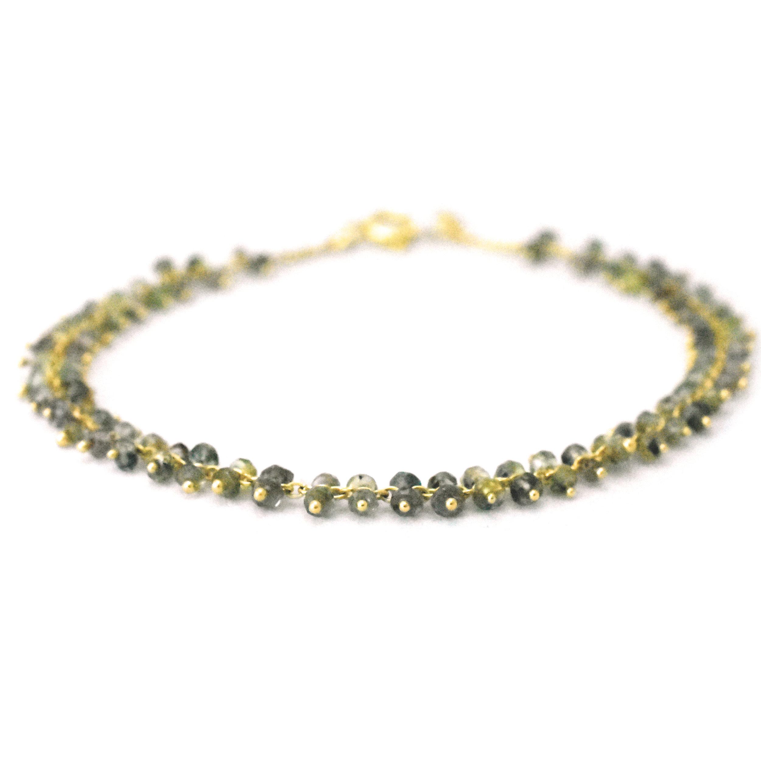 Armband green sapphire 18k