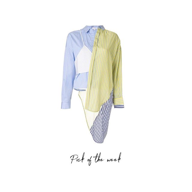 #AASPICKS . Make a statement with this asymmetrical shirt, it will make your outfit stand out when styled with white pants. . #askastylist #askastylistme #fashionstyling #fashion #summer #dubai #cairo #jeddah