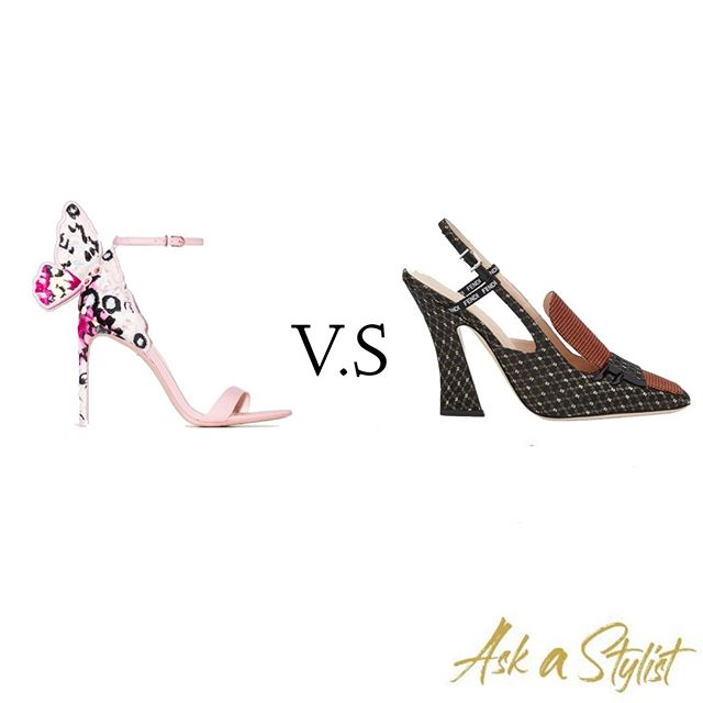 #thisvsthat  There are two types of girls; the one with the masterpiece sandals and the classic one with the basic pumps. Which one are you? . #askastylist #askastylistme #fashion #fashionstyling #dubai #jeddah #riyadh #amman