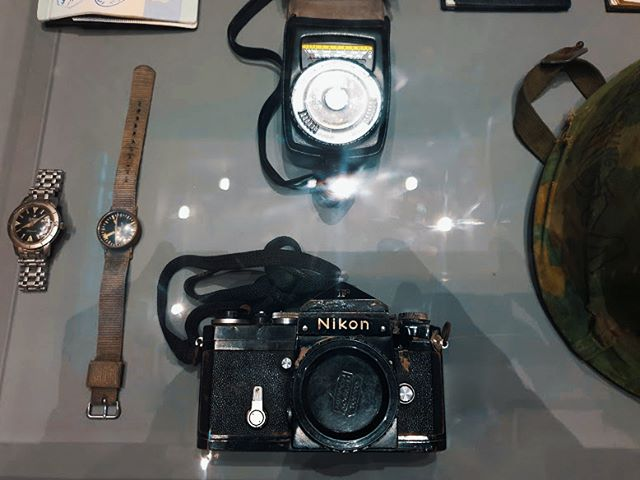 The Nikon F with a bullet damage used by Don McCullin in Prey Veng, Vietnam which saved his life during an ambush in 1968. Great retrospective of a legendary British Photographer, loved all of the 250 photographs! Great stuff @tate . . . . . . . #tatebritain #tate #donmccullin #magnum #magnumphotos #documentary #shortdocumentary #indiefilm #filmmaking #shortfilm #redefineart #photography #streetphotography #photo #fineart #lfiblog #LeicaWorld #LeicaClub #lfigallery#LensCultureStreet #StoryoftheStreet #Street #StreetPhoto #StreetShot #nikonF #nikon