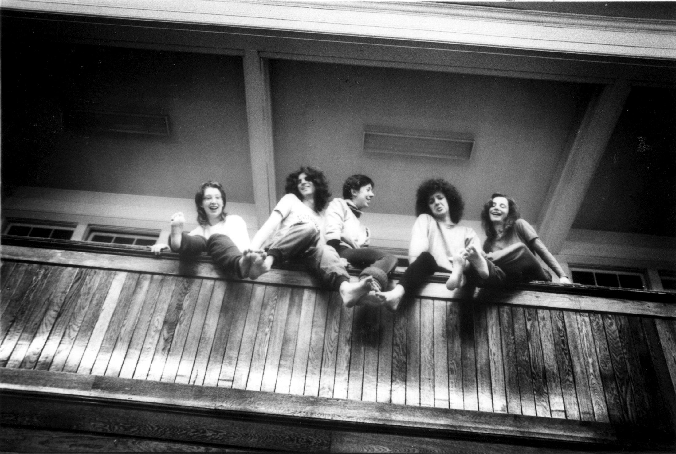 Lois Brown, Bennie Malone, Cathy Ferri, Peggy Hogan, & Mandy Jones in 1981