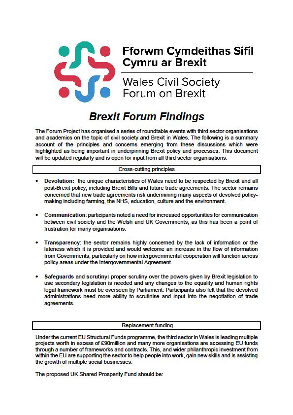 Brexit Forum Findings -