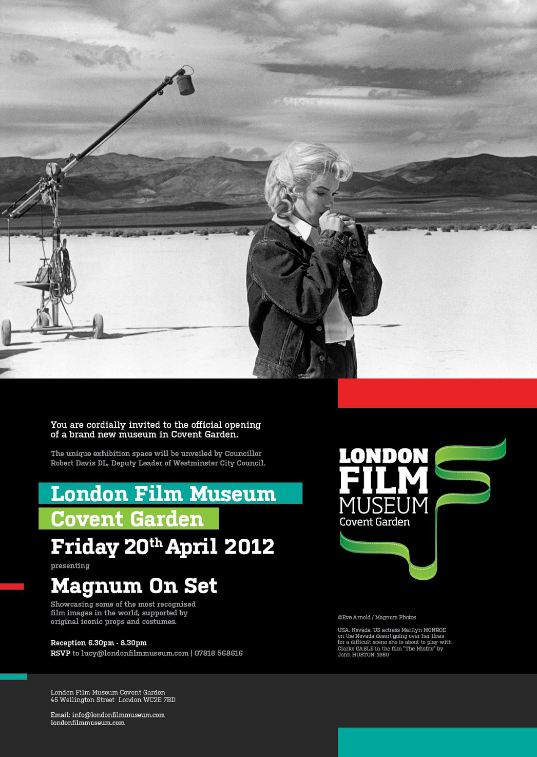 London film museum (Magnum on set)