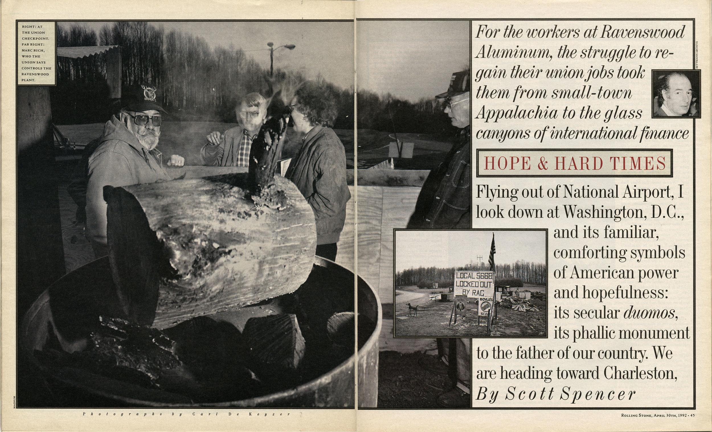 Hope & Hard Times - Ravenswood / USA - Zug / Switzerland 1992