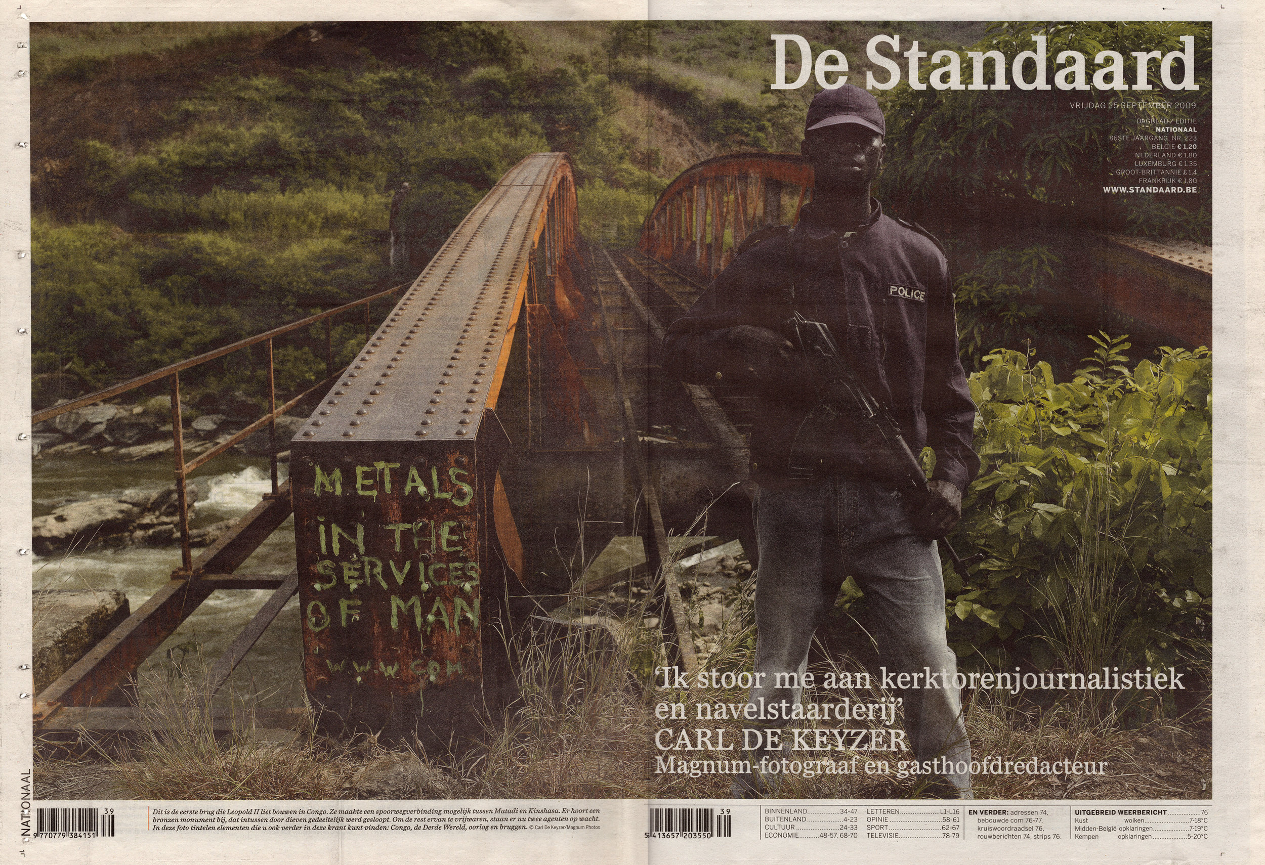Guest chief edtior for De Standaard