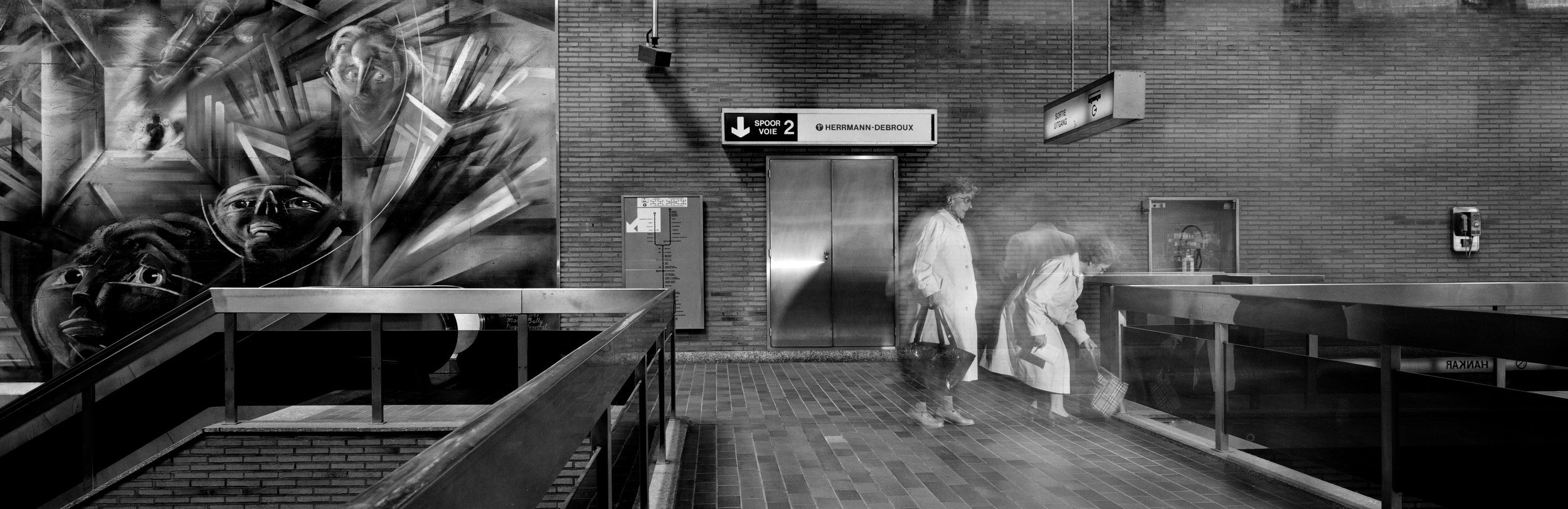Art in the Brussels subway 1993