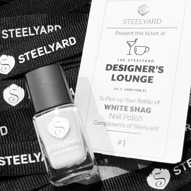 Special Edition Nail Polish for the first 100 designers attending the DESIGN YOUR MEDIA EMPIRE Steelyard Panel TODAY in The Learning Center! #goldenticket #nailedbysteelyard #designerexclusive #beoneoftheones #hpmkt
