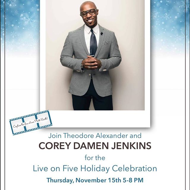 Design friends! Are you visiting the NYDC today? We would love to have you come meet our friend Corey Damen Jenkins at the Theodore Alexander showroom during Live on Five Holiday Celebration! #TheodoreAlexander #NYDC #LiveOnFive #CoreyDamenJenkins #Steelyard #SteelyardAccess