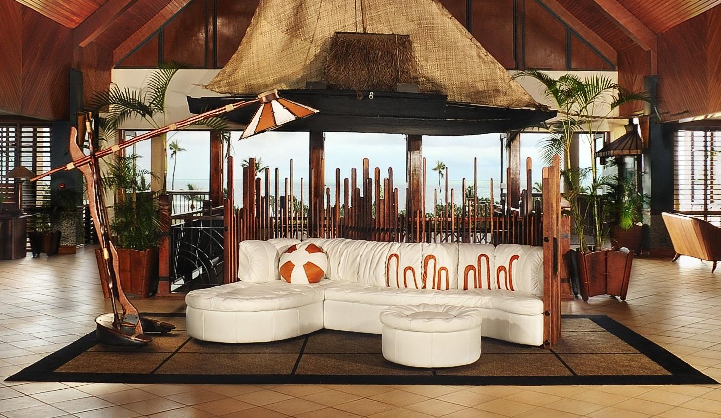 "PACIFIC GREEN  Isle D'Palm ""U"" Modular  ,  Isle D'Palm Ottoman ,  Isle D'Palm Floor Lamp"
