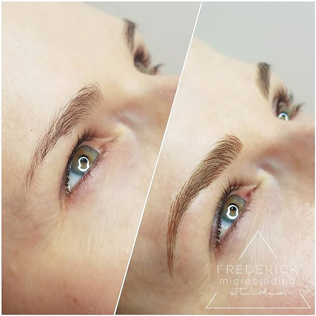 Not sure if I'm more excited about it being Friday or more excited about these brows 😍 #frederickmicrobladingstudio . . . . #microblading #frederick #downtownfrederick #eyebrows #frederickmicroblading #frederickmd #microbladingeyebrows #microbladingbrows #permanentmakeup #microbladingartist #micropigmentation #tattoo #pmu #brows #3dbrows #browsonfleek #eyebrowtattoo #semipermanentmakeup #eyebrowsonfleek #beauty #cosmetictattoo