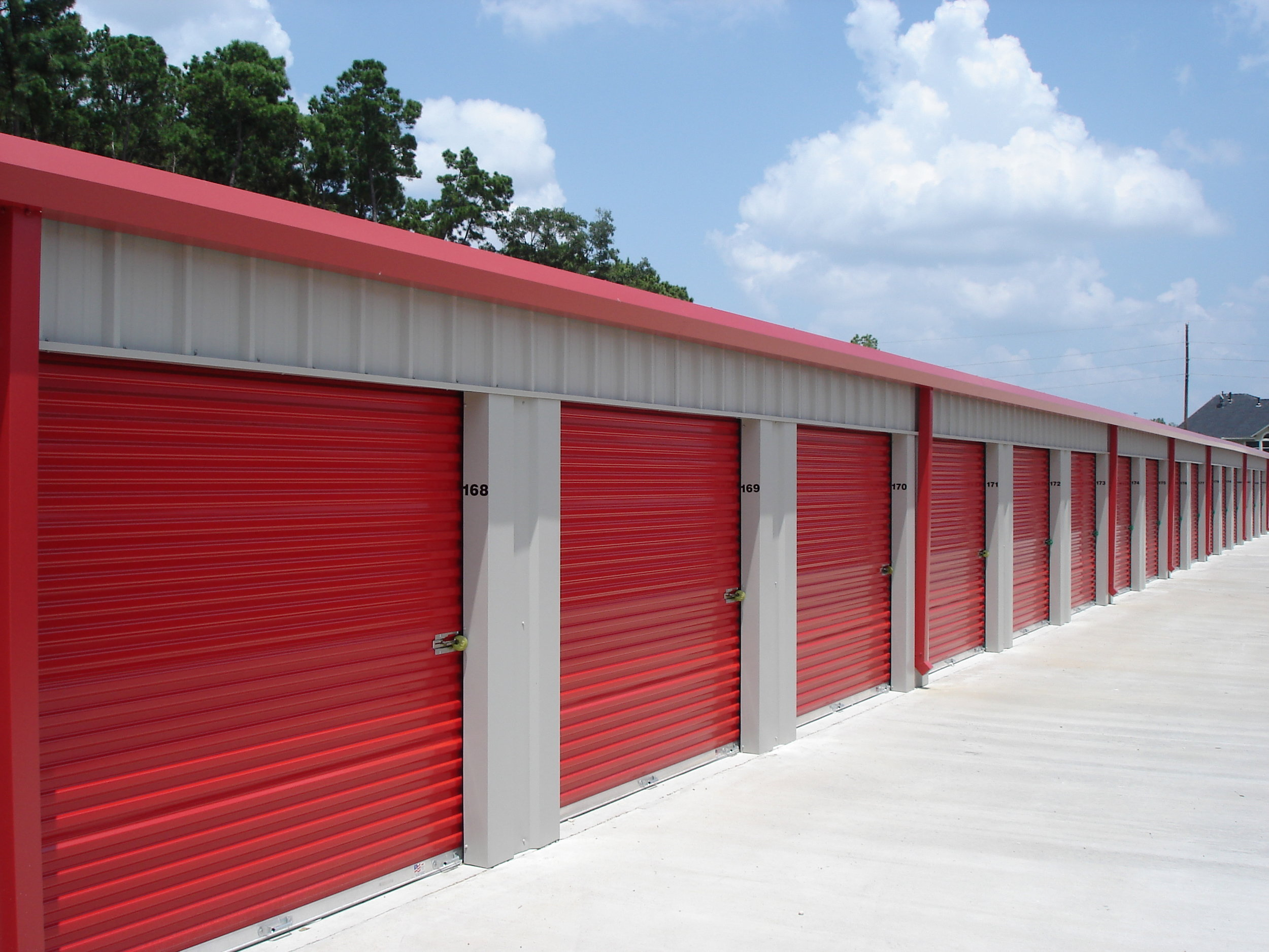 Traditional self Storage units