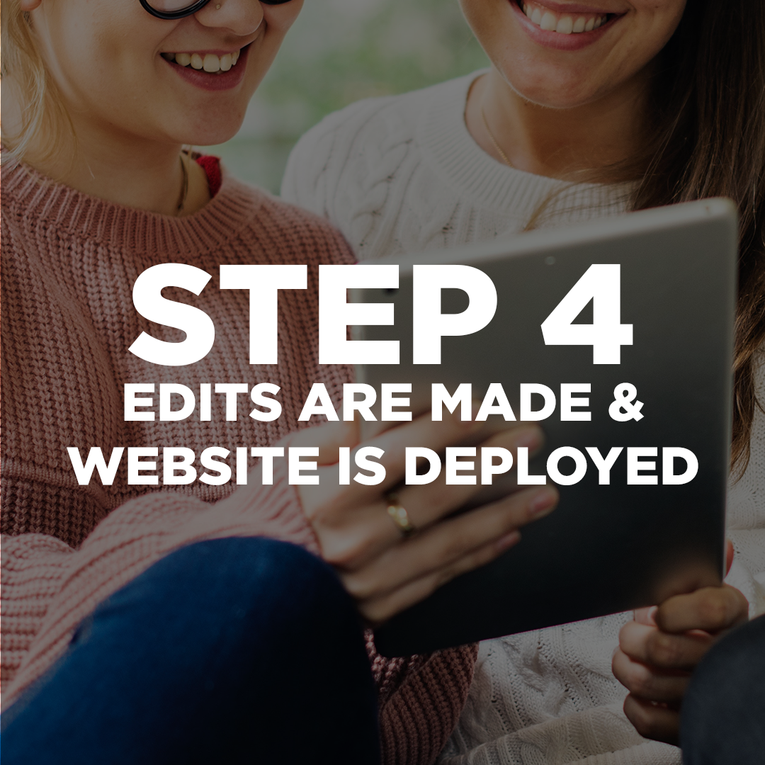Finally! Once all of the edits are made, and you are happy about your website, we are ready to launch! We have a fast turnaround time. You will see a finished product in 7 to 10 days to evaluate and suggest edits for us to make. Our goal is to launch it on the 14th day.