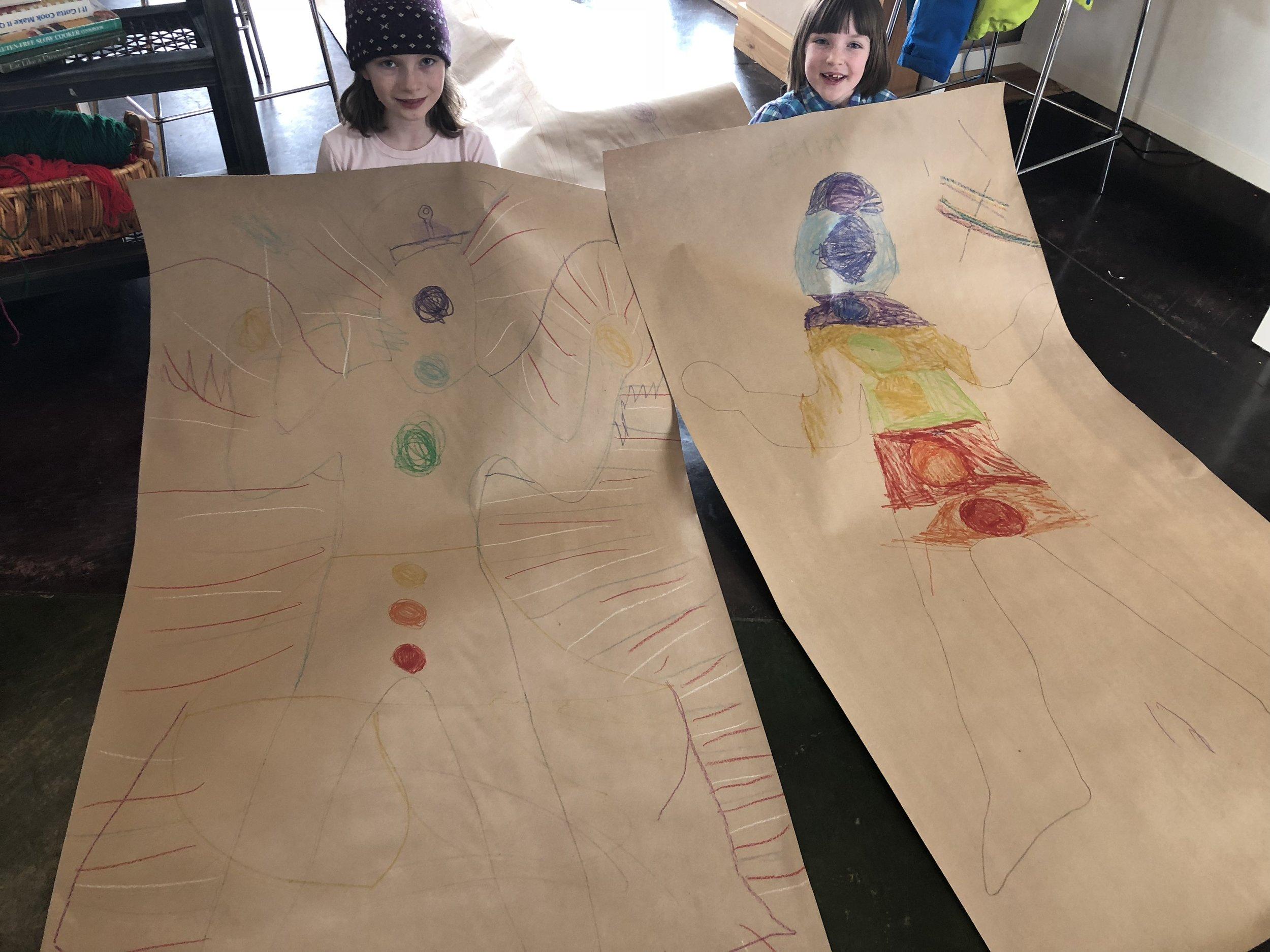 Reiki Kids begin to understand energy awareness through the art activities!
