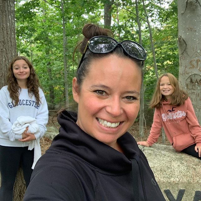 Just me and My girls!!! #girlmom #dogtown #level10life #babsonbouldertrail #fallhike