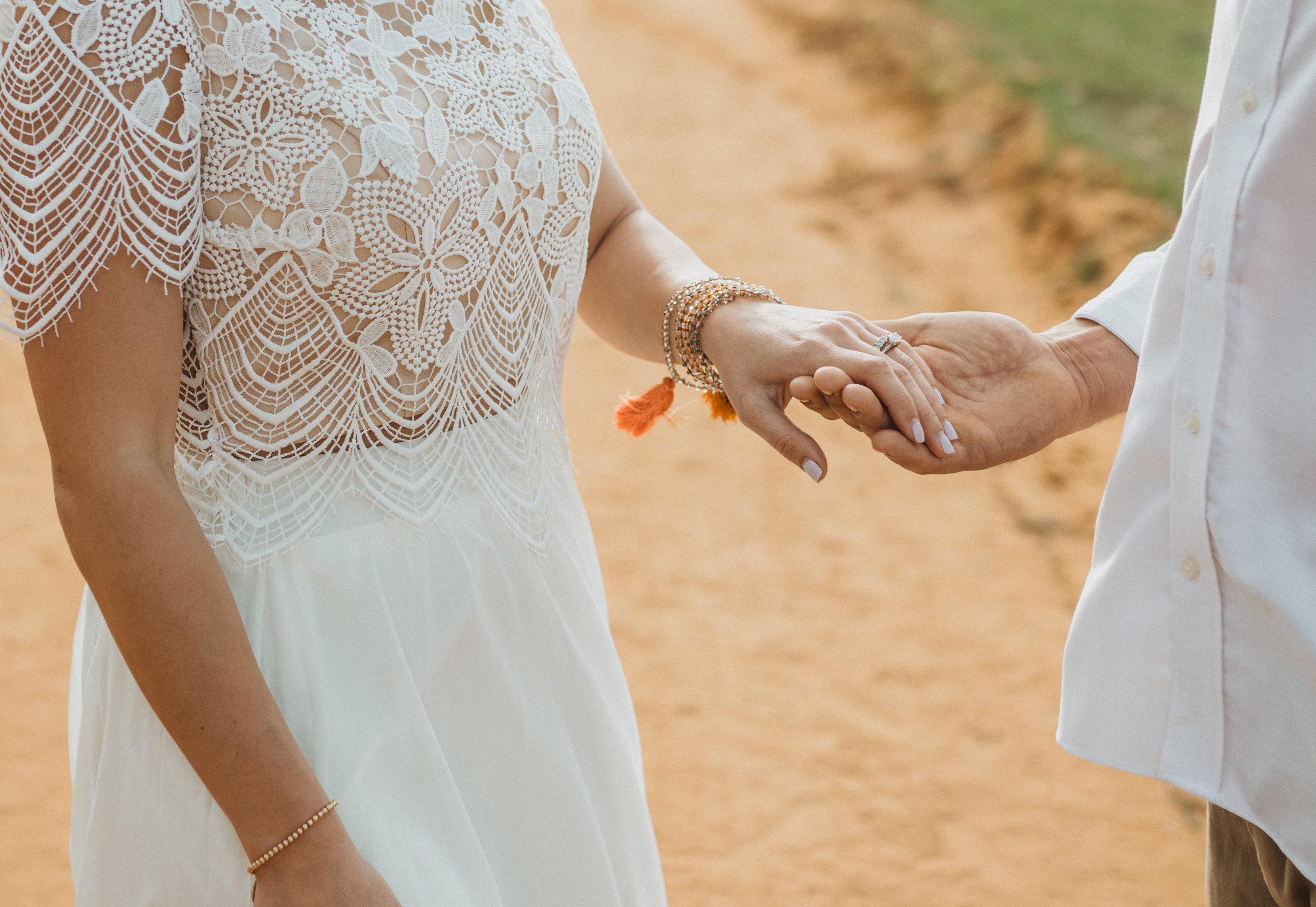 Boho Bride and Groom Elopement