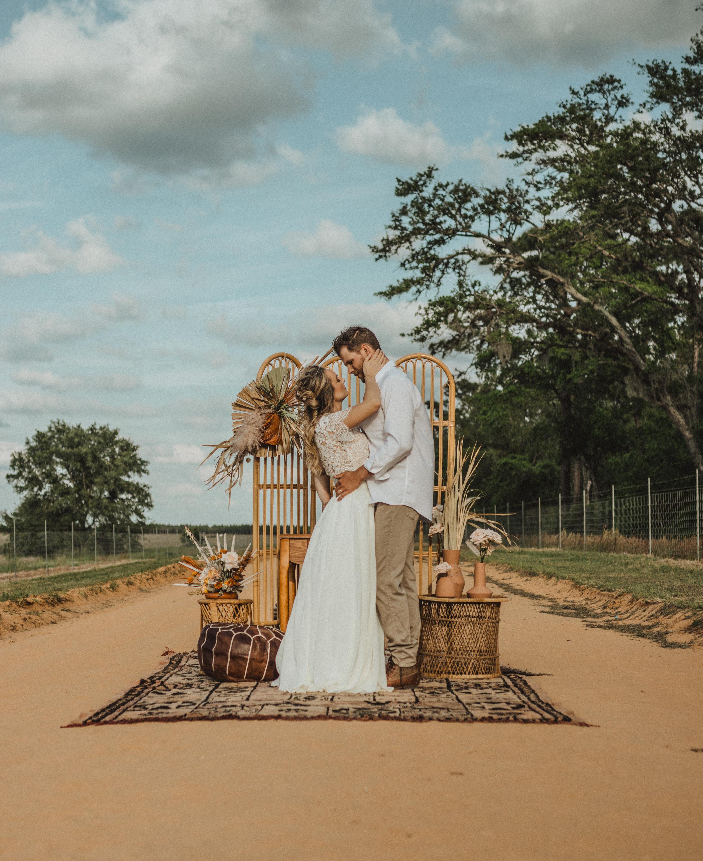 Boho Alter Gypsy Bride and Groom