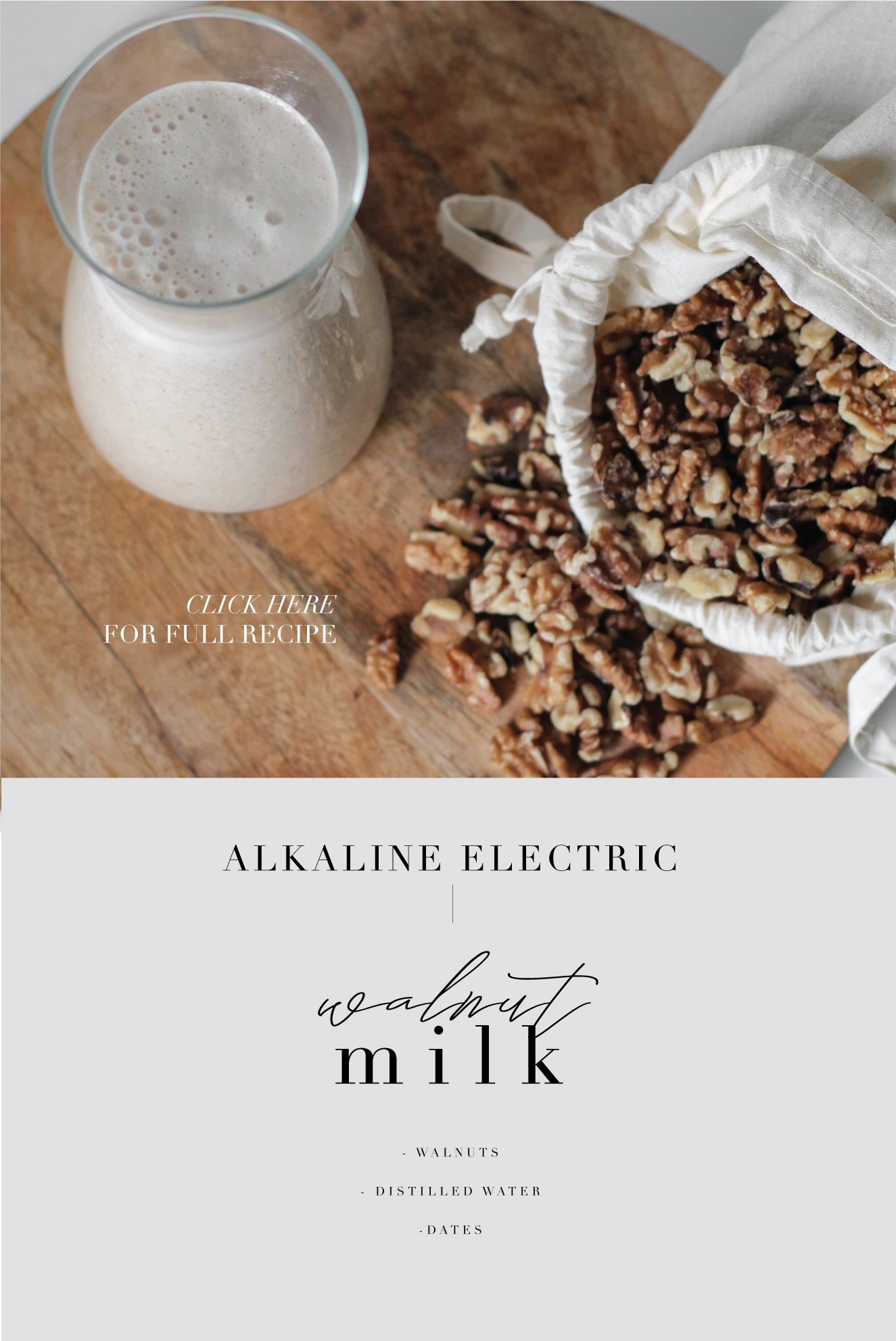 Walnut Milk Recipe