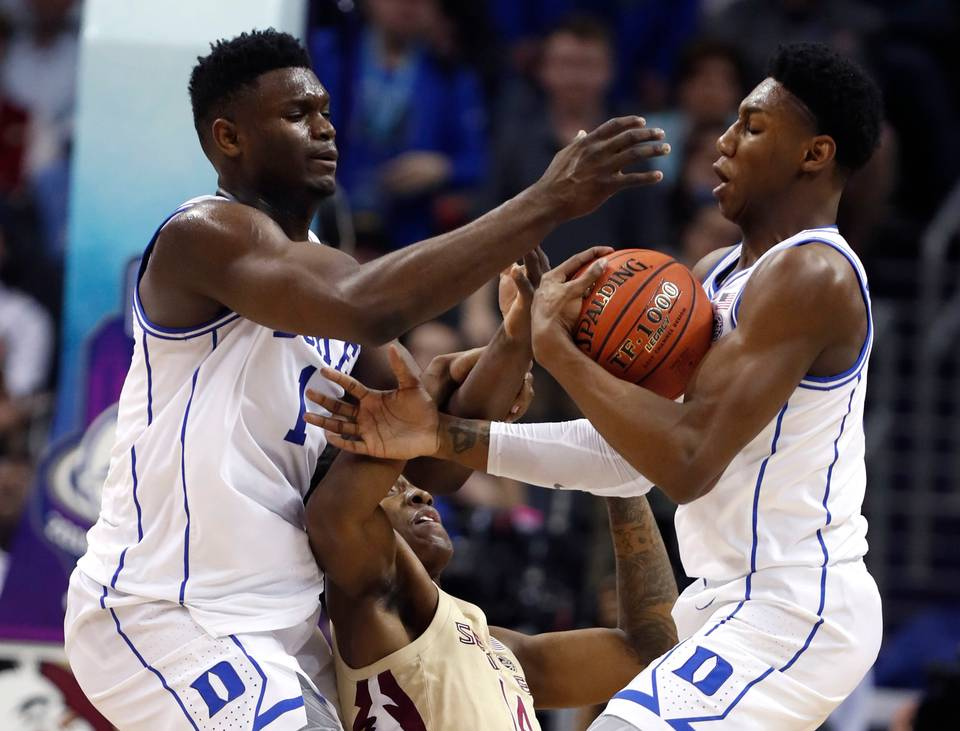 Zion Williamson and RJ Barrett like to spin