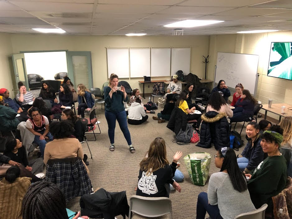 """On Feb. 28th, Triota hosted """"Porn and Pizza"""" to a turnout of 30 people."""