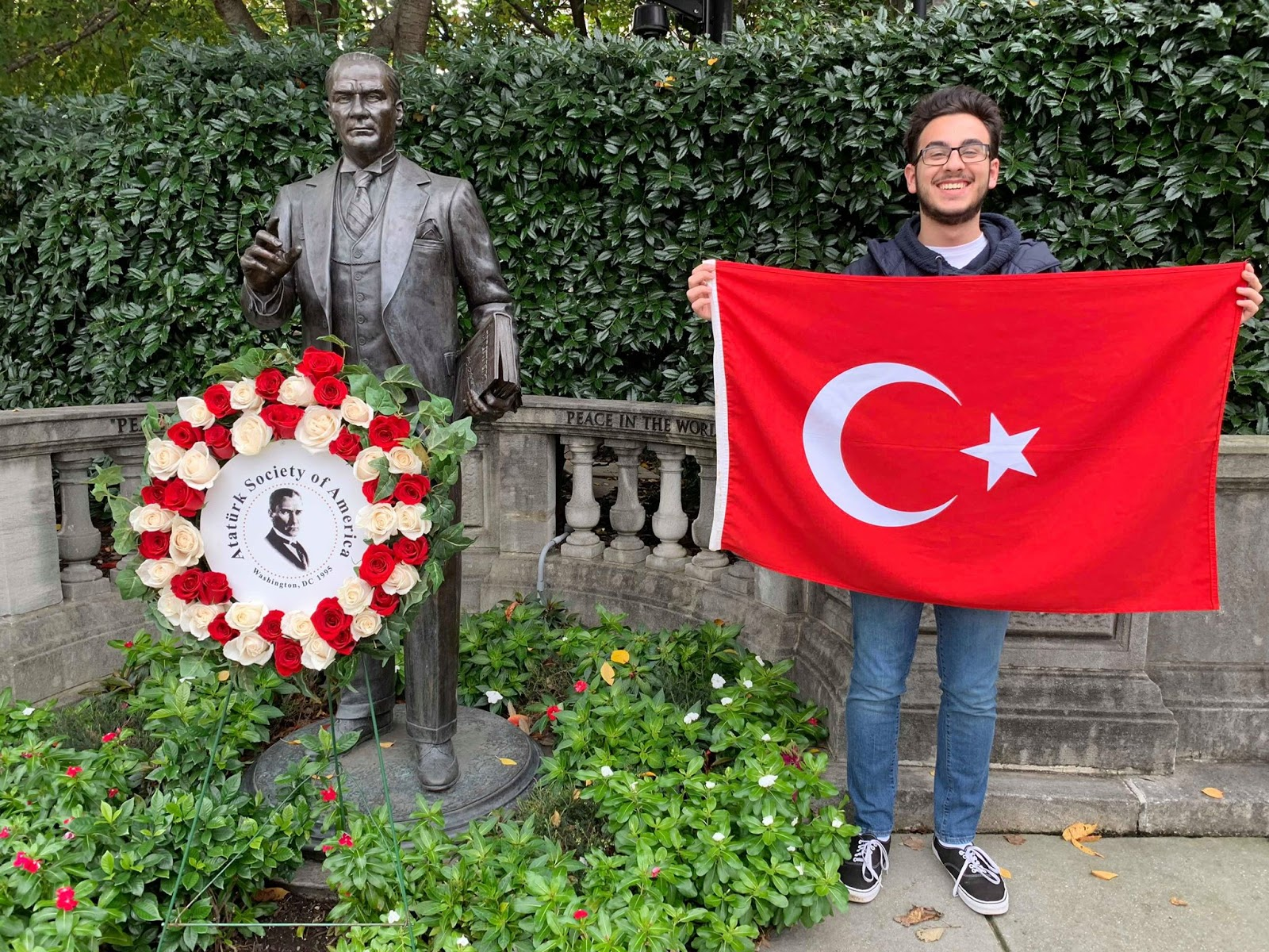 Turkish Cultural Club President Bayram Furat stands outside of Ataturk Society of America in DC.
