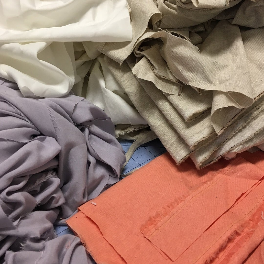 // RESCUED FABRIC   With the goal of eliminating textile waste, we start by rescuing fabrics from fashion company offices and production facilities as well as from damaged garments which would have otherwise gone to landfill or incinerators. Compared to the massive global textile waste problem, the amount of textiles we're diverting from landfill is small, but we passionately strive to prove that designers of any size can and should be a vital part of the circular economy where no materials are wasted.