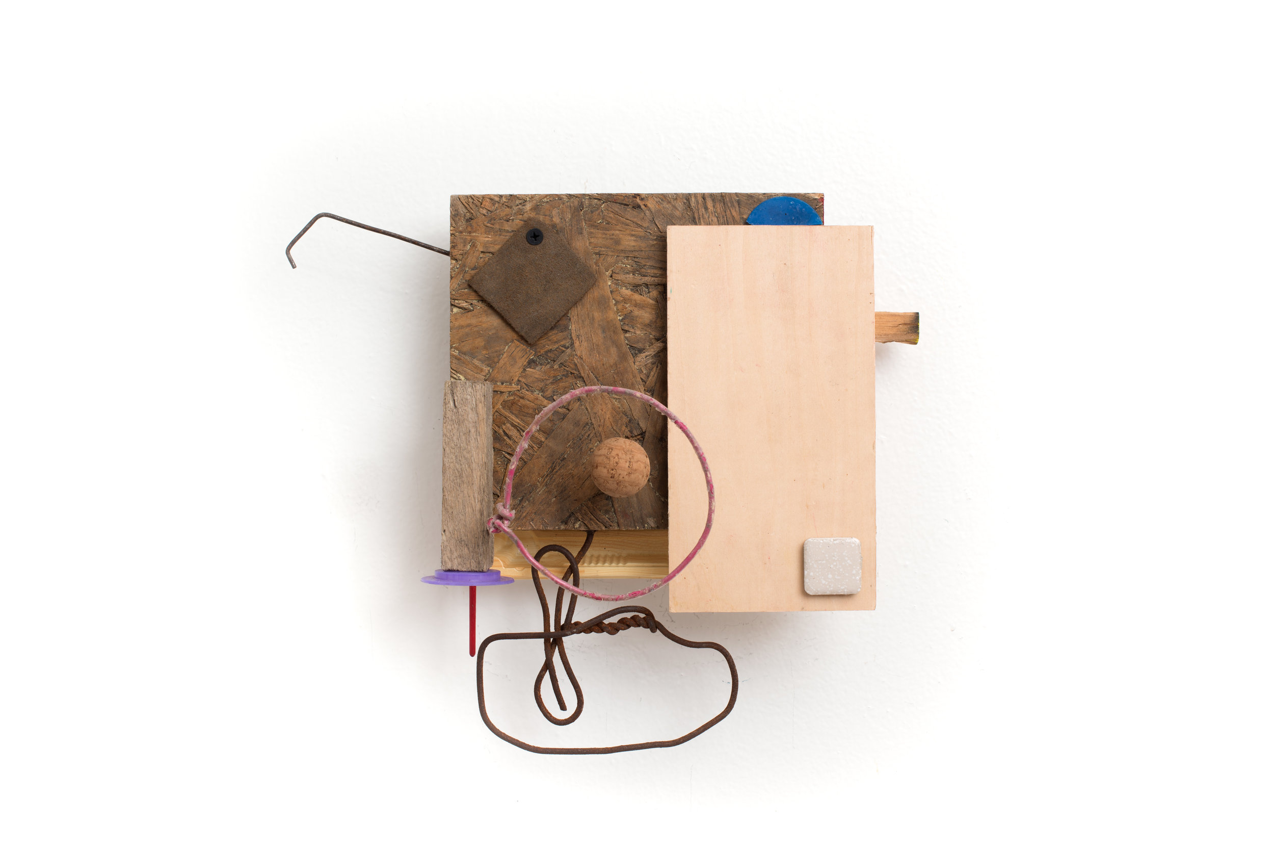 Self-Certainty  Found object, hardware 10 1/2 x 12 1/2 inches    New York, 2018