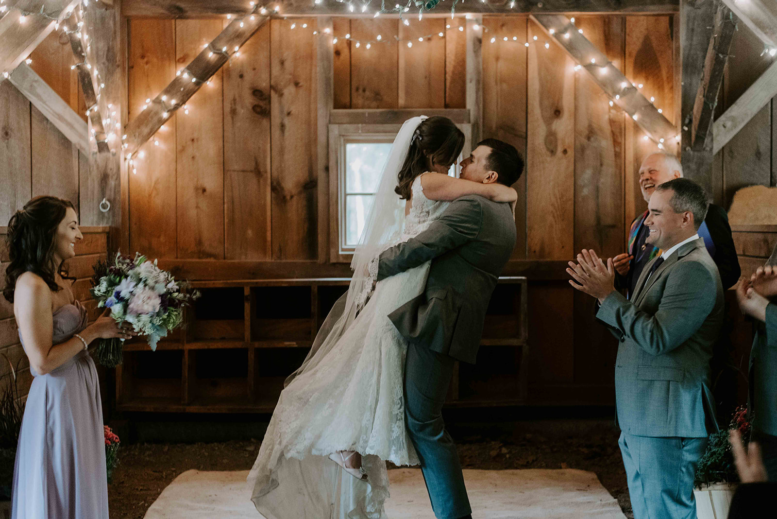 New Hampshire wedding photographer for a boho and intimate fall wedding at Stonewall Farm, Keene, NH
