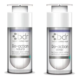 RE-ACTION DEEP & RE-ACTION NATURAL   Exfoliating treatment for thick, oily or acne-prone skin  Exfoliating treatment for dry, dehydrated, sun damaged or pigmented skin