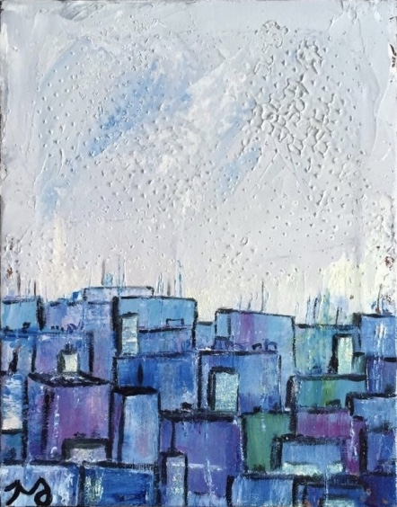 downtown | oil on canvas | 8 x 10 inches | SOLD