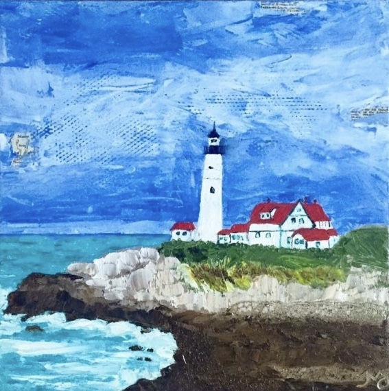 Cape Elizabeth | oil on canvas | 12 x 12 inches | SOLD