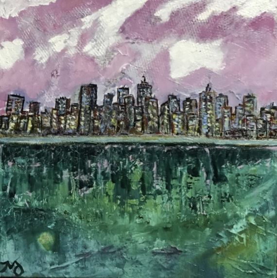 in the city | oil on canvas | 12 x 12 inches | SOLD