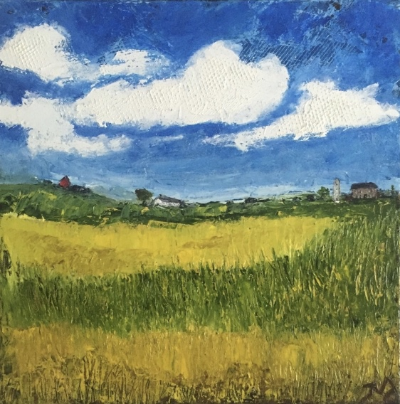 farmland | oil on canvas | 12 x 12 inches | SOLD