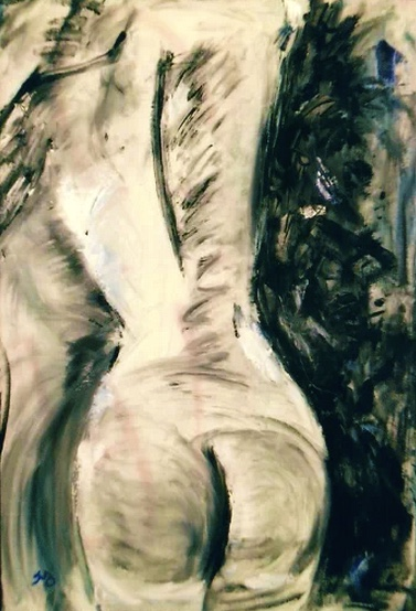 Thyrsus | oil & latex on canvas | 26 x 38 inches | SOLD