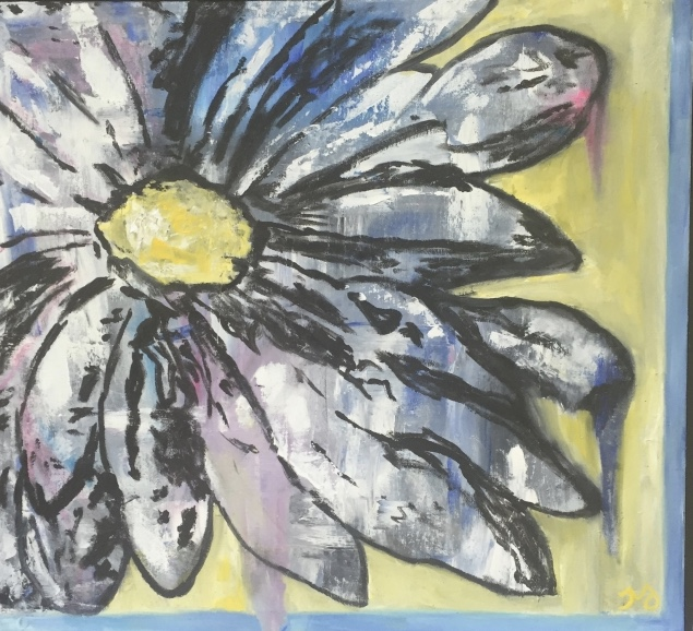 Daisy   oil on canvas   21 x 23 inches   SOLD